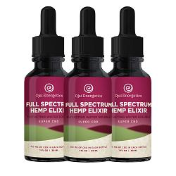 full spectrum hemp elixir - water soluble cbd - 3 pack