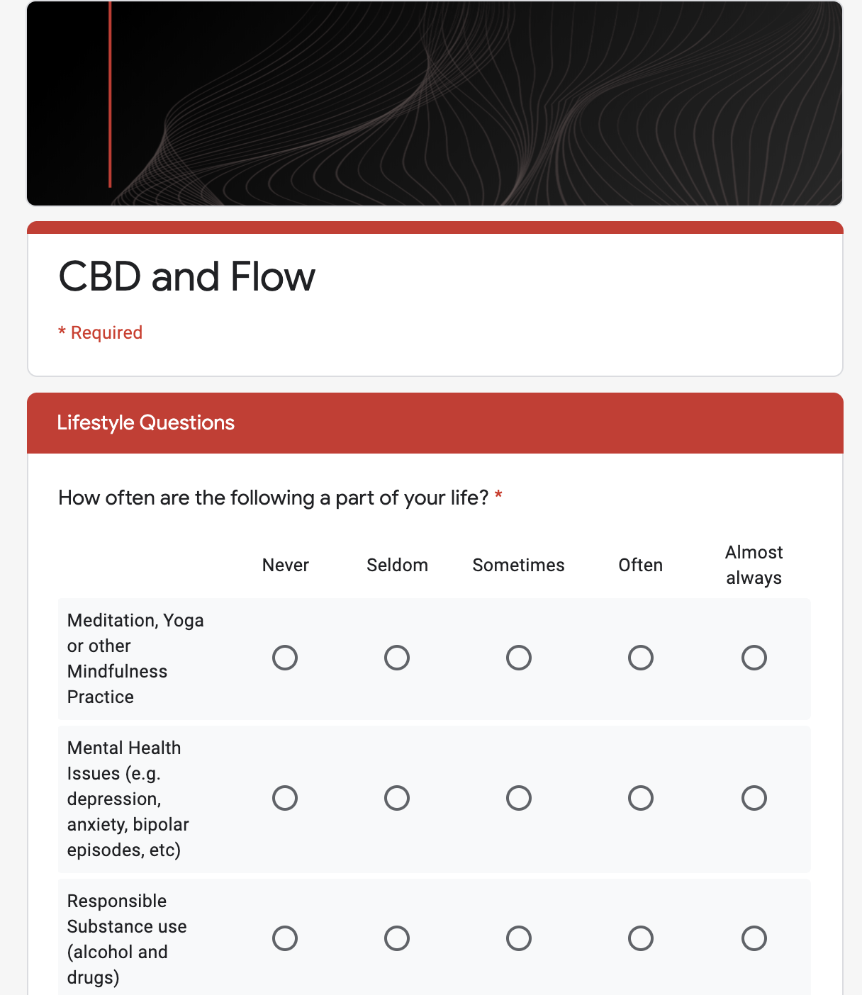 CBD and Flow Survey