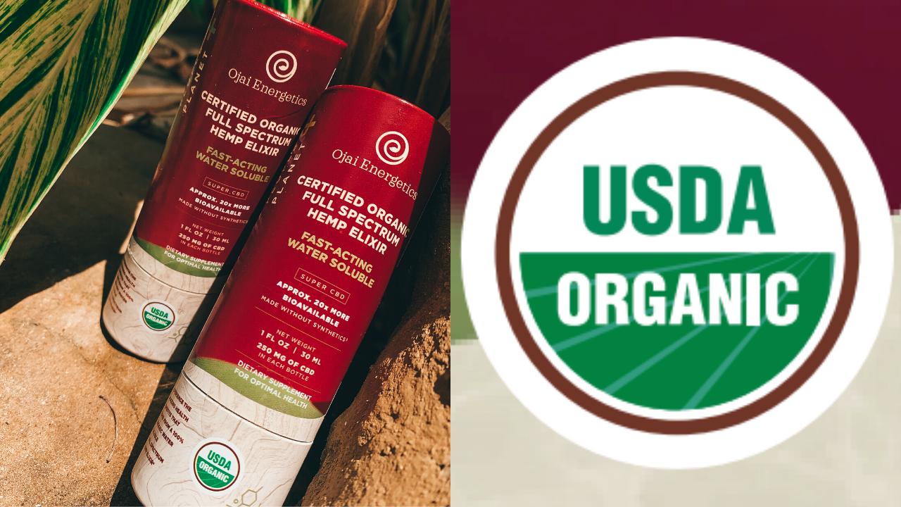 Ojai Energetics Earns USDA Organic Certification for Water-Soluble CBD Hemp Elixir