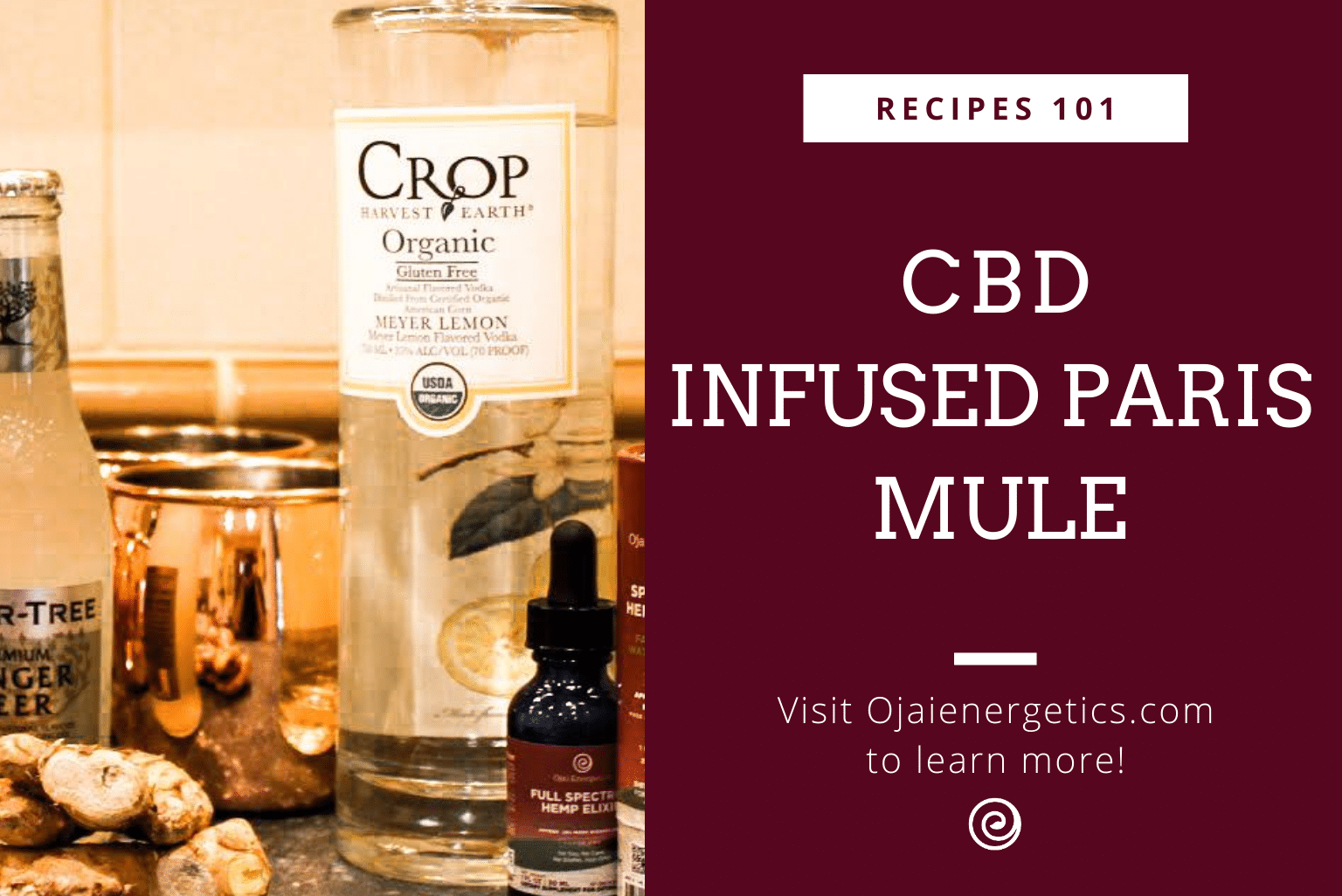 CBD Recipes: CBD Infused Paris Mule