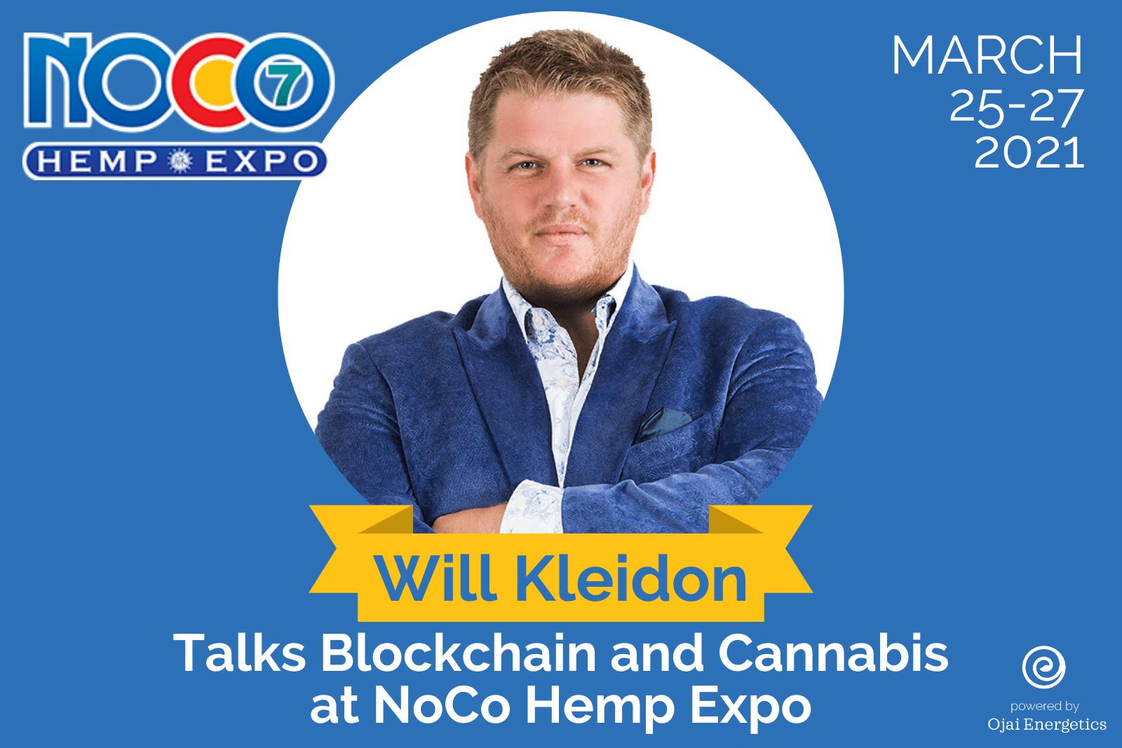 Will Kleidon Talks Blockchain and Cannabis At NoCo Hemp Expo